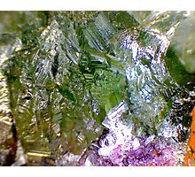 Green Fluorite (Detail) Photographic Print