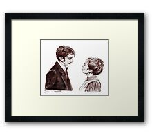 """Human Nature"" Doctor Who Inspired Sketch Framed Print"