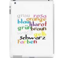 German colour words iPad Case/Skin