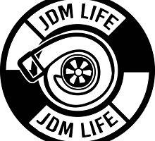 The jdm life turbo badge - black by TswizzleEG