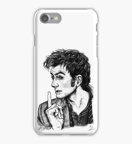 "The Doctor - David Tennant - ""Fingers on Lips!"" iPhone Case/Skin"