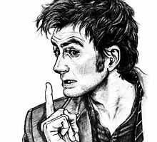 "The Doctor - David Tennant - ""Fingers on Lips!"" by Indigo East"
