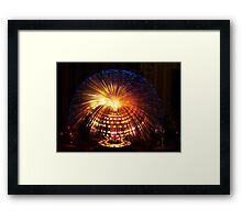 Blue Fibre Optic Lamp Framed Print
