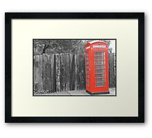 Call Me (Now in the past) Framed Print