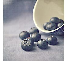 Bowl of Blueberries Photographic Print