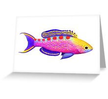 Yellow Spotted Anthias Reef Fish Greeting Card