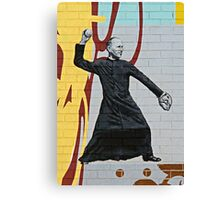 The Sporty Priest Canvas Print