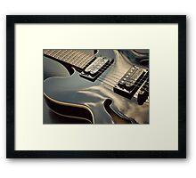 Black Guitar Framed Print