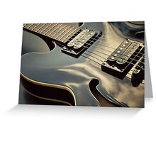Black Guitar Greeting Card