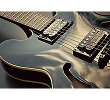 Black Guitar Photographic Print