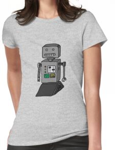 Robot doodle Womens Fitted T-Shirt
