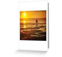 Couple on a sunset beach Greeting Card