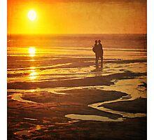 Couple on a sunset beach Photographic Print