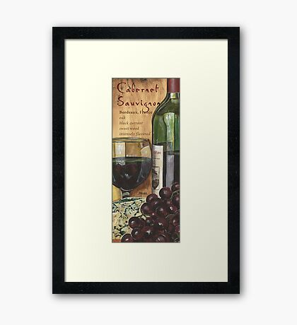 Red Wine and Cheese 1 Framed Print