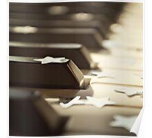 Piano keys and stars Poster