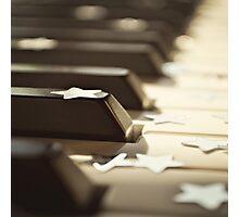 Piano keys and stars Photographic Print