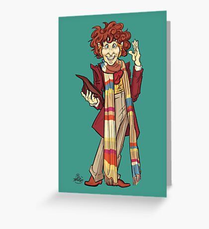 The Fourth Doctor [Who] Greeting Card