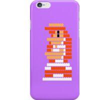 8-Bit Brick Peach iPhone Case/Skin