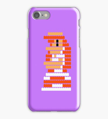 8-Bit Brick Peach iPhone Case/Skin