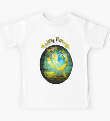 Fairy Power Yellow and Blue hues Kids Tee