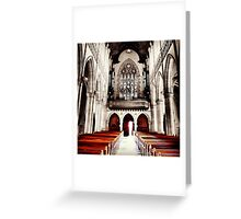 Empty Pews Greeting Card