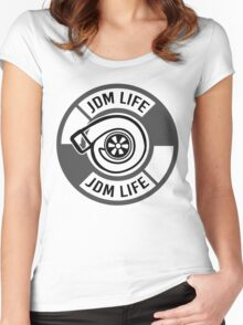 The jdm life turbo - gray Women's Fitted Scoop T-Shirt