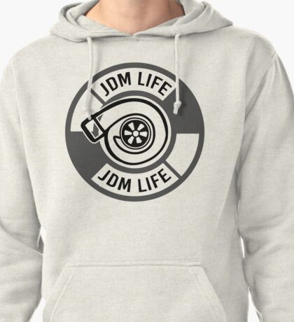 The jdm life turbo - gray Pullover Hoodie