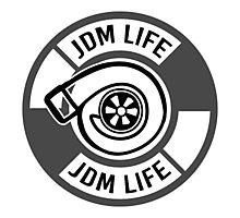 The jdm life turbo - gray Photographic Print