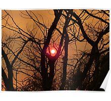 Sunset through smoke  Poster