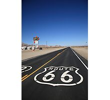 Route 66 Shield Photographic Print