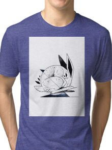 RABBIT INKTOBER Tri-blend T-Shirt