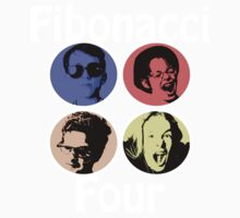 Fibonacci Four T-shirt by Edward Fielding