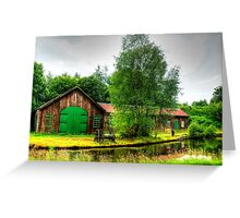 Sawmill by Monkland Canal. Greeting Card