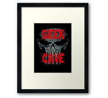 Game On In The Geek Cave Framed Print