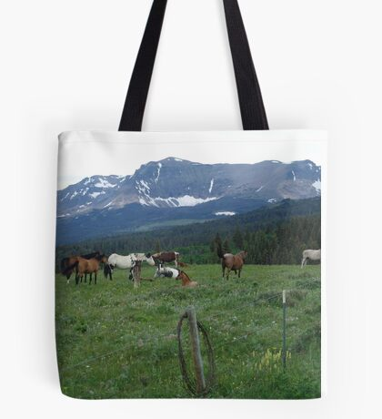 BLACKFOOT HORSE BAND - NEAR BROWNING, MT Tote Bag