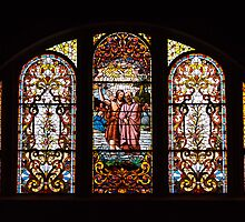 Stained Glass Windows - Baptism of Jesus by Kenneth Keifer