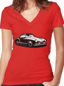 Karmann Ghia City Women's Fitted V-Neck T-Shirt
