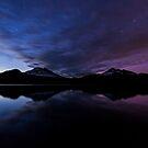 Before Dark - Aurora at Sparks Lake by Toby Harriman