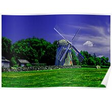 Jamestown Windmill Poster
