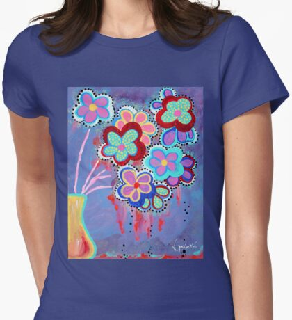 Whimsical Flowers - Art by Valentina Miletic Womens Fitted T-Shirt