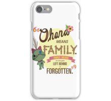 Ohana - Lilo and Stitch Quote iPhone Case/Skin