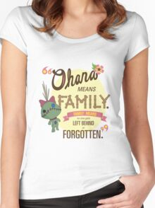 Ohana - Lilo and Stitch Quote Women's Fitted Scoop T-Shirt