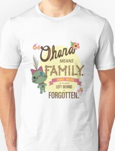 Ohana - Lilo and Stitch Quote T-Shirt