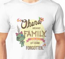 Ohana - Lilo and Stitch Quote Unisex T-Shirt