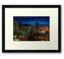 Regina City Night Lights Framed Print