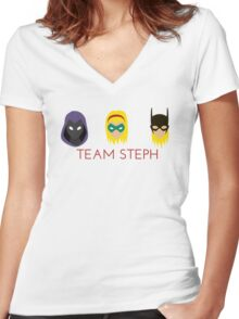 Team Stephanie Brown Women's Fitted V-Neck T-Shirt