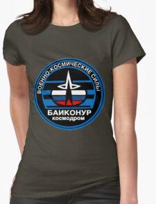 Baikonur Cosmodrome Logo Womens Fitted T-Shirt