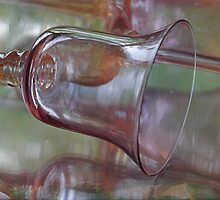 Reflected Vision ~ Glass Goblet by JETAdamson