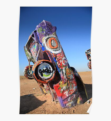 Route 66 Cadillac Ranch Poster