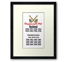 Hockey Champions of the West! Framed Print